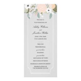 Large Floral Wedding Program