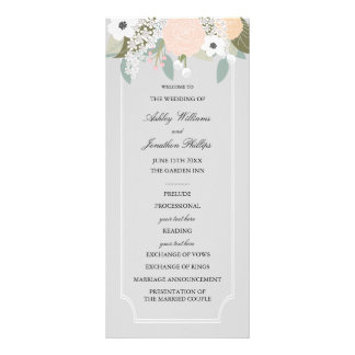 Large Floral Wedding Program