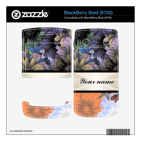 Large Flower Collage BlackBerry Decal