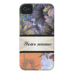 Large Flower Collage iPhone 4 Case-Mate Cases