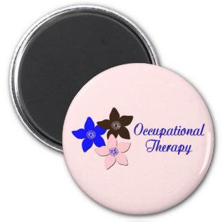 Large flower designs 2 inch round magnet