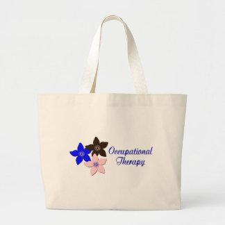 Large flower designs jumbo tote bag