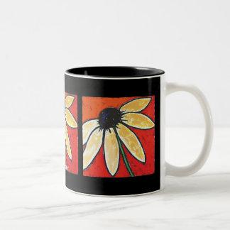 large flower mug