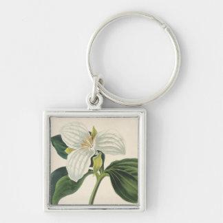 Large Flowered Trillium Keychain