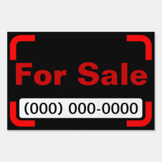Large For Sale Yard Sign With Phone Number