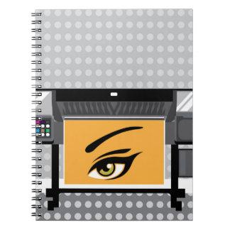 Large Format Printer Spiral Notebook