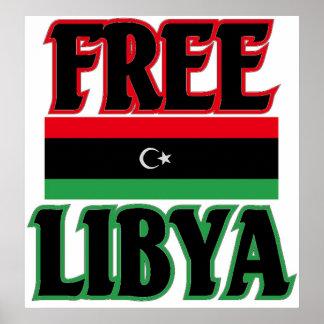Large Free Libya Poster