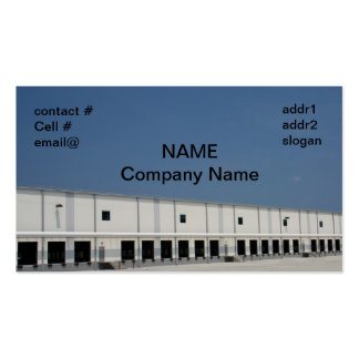 large freight distribution warehouse business card