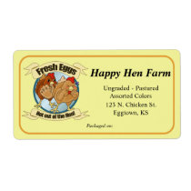 Large Funny Chickens Label