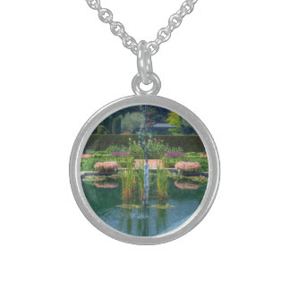 Large Garden Fountain Sterling Silver Necklace