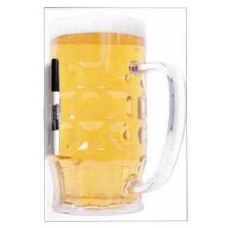 Large German Bierkrug Beer Mug Tankard Glass Pint Dry Erase Board