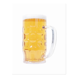 Large German Bierkrug Beer Mug Tankard Glass Pint Postcard