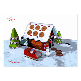 Large Gingerbread house Christmas Gift Tag Large Business Card