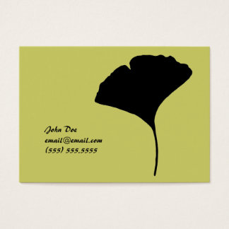 Large Ginko Leaf Calling Card