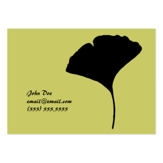 Large Ginko Leaf Calling Card Business Cards