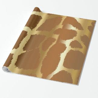 Large Giraffe Animal Print Wrapping Paper