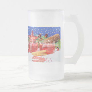Large glass cup glad Christmas