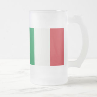 Large glass cup Italy flag
