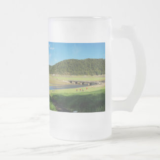 Large glass cup of Edersee old bridge Asel