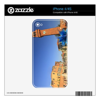 Large Glass Statue and Bell Tower, Italy Decals For The iPhone 4S