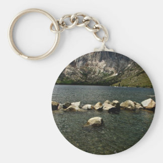 LARGE GRANITE BOULDERS IN A MOUNTAIN LAKE KEYCHAIN