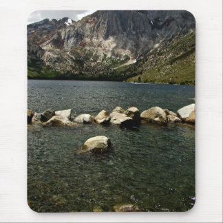 LARGE GRANITE BOULDERS IN A MOUNTAIN LAKE MOUSE PAD
