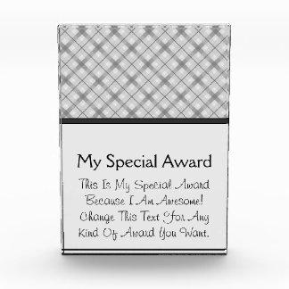 Large Gray Plaid Pattern Awards