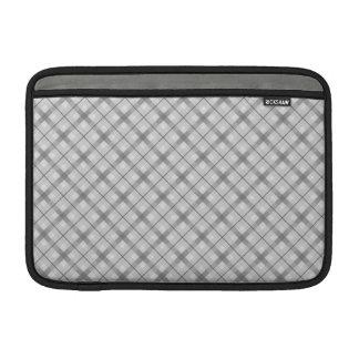 Large Gray Plaid Pattern MacBook Air Sleeve