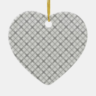 Large Gray Plaid Pattern Christmas Tree Ornaments