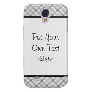 Large Gray Plaid Pattern Samsung Galaxy S4 Cover
