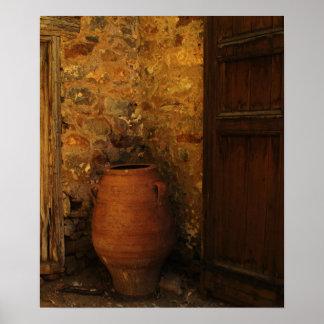 Large Greek Cretan pottery storage jar - pithos Poster