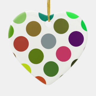 Large Green And Brown Dots Christmas Tree Ornament