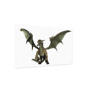 Large Green Dragon Canvas Print