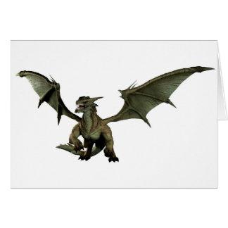 Large Green Dragon Greeting Card