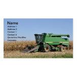 large green farming equipment business card