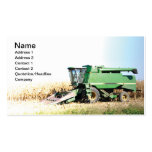 large green farming equipment business card template