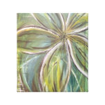 large green flower gallery wrap canvas