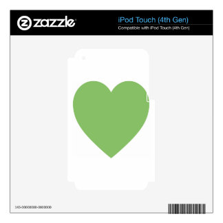 Large Green Heart iPod Touch 4G Decal
