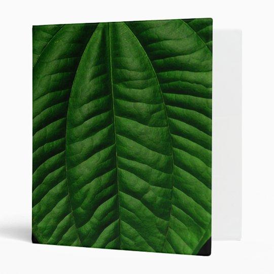 Large Green Leaf 3 Ring Binder