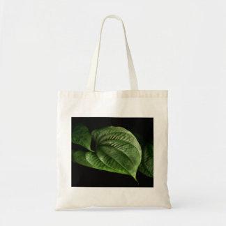 Large Green Leaf Canvas Bag