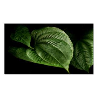 Large Green Leaf Business Card