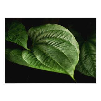 Large Green Leaf Card