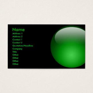 Large Green Marble Card