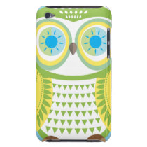 Large Green Owl iPod Touch Case