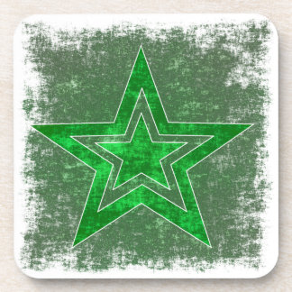 Large green star drink coaster
