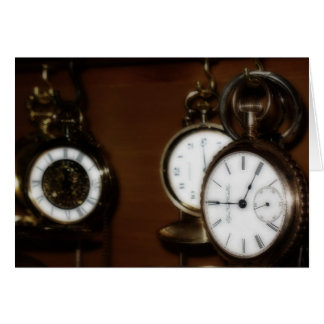 Large Greeting Card with Pocket Watches