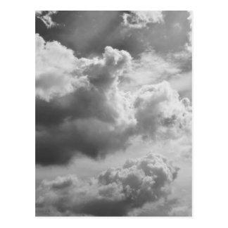 Large Grey Cloud Sky Postcards