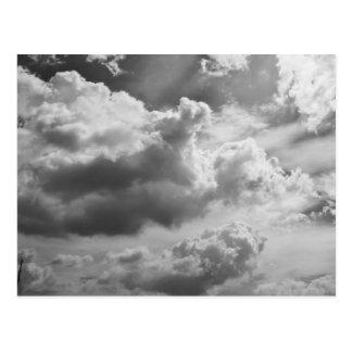 Large Grey Cloud Sky Postcard