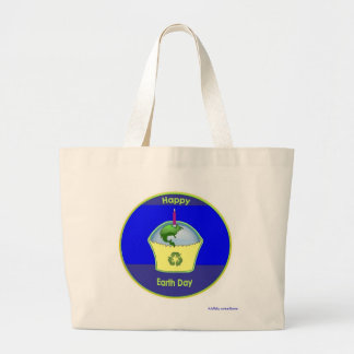 large grocery tote - Happy Earth Day