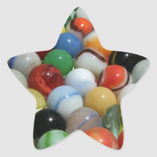 Large Group of Antique Toy Marbles Star Sticker
